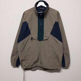孟加拉製🇧🇩WHITE SIERRA卡其半拉鏈風衣外套❤️任選兩件減100✨古著復古vintage