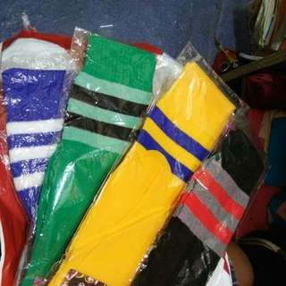 High Socks with Stripes