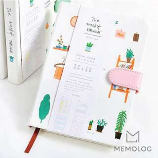 A5 Pots and Plants Cute Illustration Planner Notebook