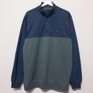 IZOD藍綠半扣長袖上衣❤️任選兩件減100✨古著復古vintage