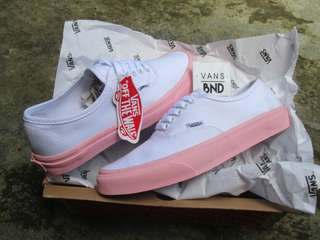 Vans Authentic White Pink (Waflee DT)