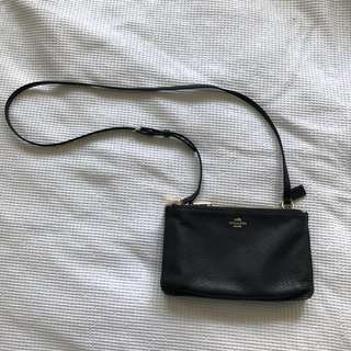 Coach crossbody bag black with gold hardware
