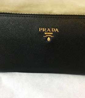 Reduce Price-Prada Long Wallet-Aunthentc