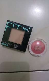 Maybelline fit me powder dan blush on