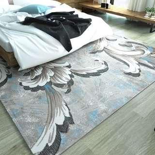 水晶夢臥室地毯客廳沙發茶几毯子床邊北歐中式美式現代歐式簡約