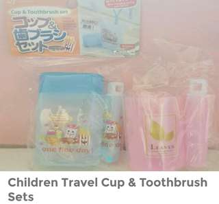 Children Travel Cup n Toothbrush Sets
