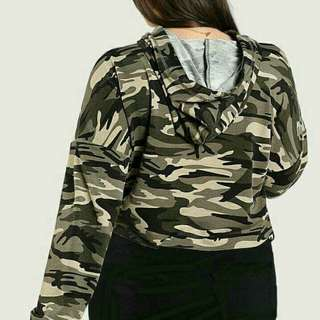 PLus size camoufLadge hoodie terno
