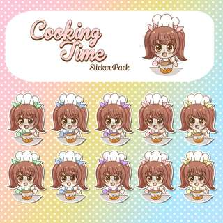 CookingTime Stickers - Planner Stickers - Kawaii Stickers