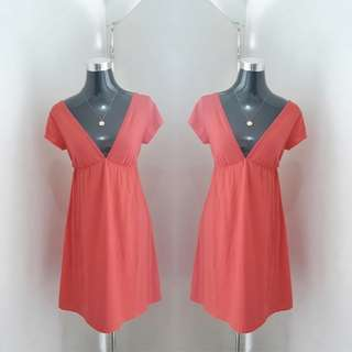 Peach Cotton Dress