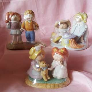 Cabbage patch porcelain figurines