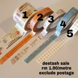 Washi tape per metre