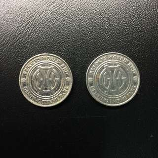 Vintage Malaysia Genting games small tokens (2pc lot)