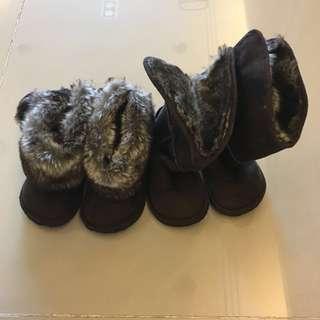 H&M 冬季毛毛雪靴-免運