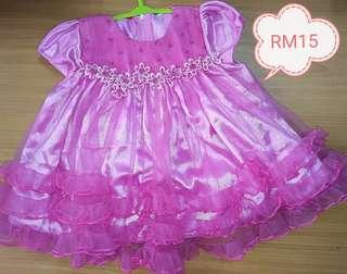 Baby pink dress.