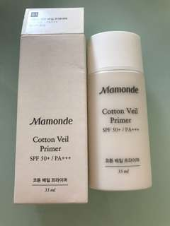 100% 全新Mamonde Cotton Veil Primer