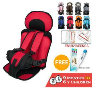 FREE POS Ready Stock Portable Baby Safety Car Seat Belt Mesh Cover Chair Children