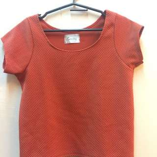 orange shirt (cropped) (₱150+SF)