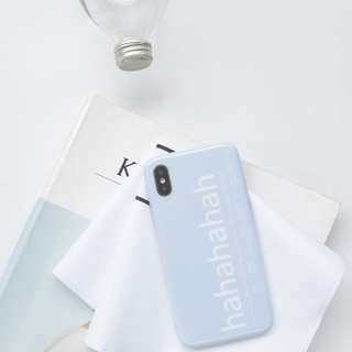 (PO) INS 2018 Hahahaha Letters Iphone Casing