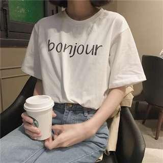 🚚 [全新]bonjour英文字母T