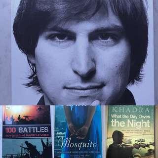 2nd hand books (Fiction + Non-Fiction)