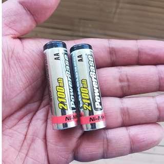 powerbase 2100mah double AA rechargeable battery