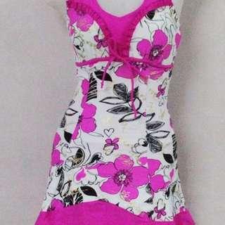 Floral Dress Swimsuit Women Swimwear