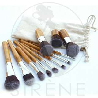 11Pcs. Bamboo Make-up Brush Set