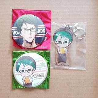(All for $12) Kuroko no Basket - Midorima Assorted Merchandise