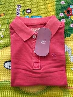 BNWT Mango Kids Red Polo Tshirt 4/5 110