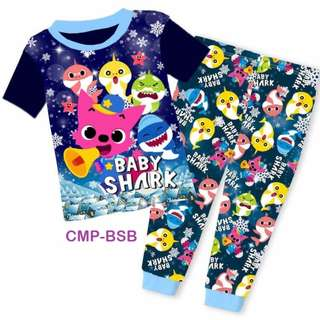 INSTOCK Baby Shark short sleeve pjs