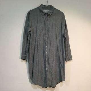 🚚 (降!)條紋長袖隱形釦造型襯衫