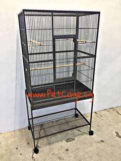Parrot Bird Cage - Cage can be detach from trolley