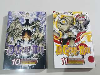 D.Gray-Man Manga Vol. 10 & 11