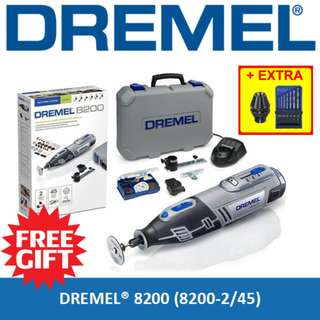 [FREE DREMEL MULTICHUCK & DRILL BIT] Limited Time Offer DREMEL 8200 Cordless Rotary Tool Grinder