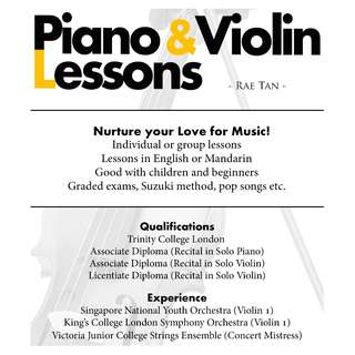Piano and Violin Lessons for Children
