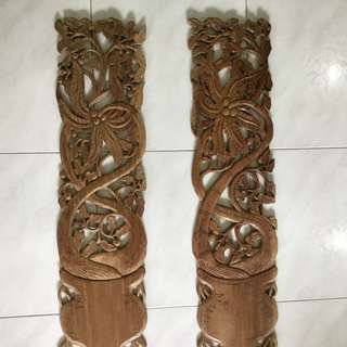Teakwood handcraft in original color