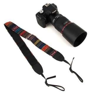 Strap Kamera Vintage - Black