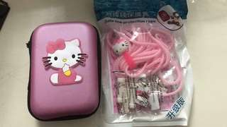 HELLO KITTY HARD CARRY CASE COVER POUCH