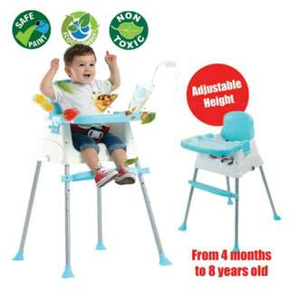 SALE FREE POS Ready Stock Children Multipurpose Portable Dining Adjustable Baby Chair