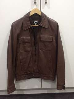 Mens lambskin leather jacket