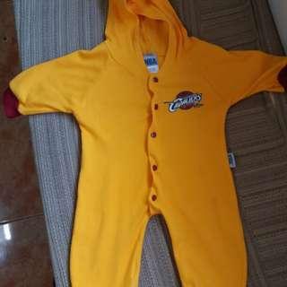 NBA baby longsleeve overall with hood