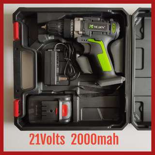 New 21Volts Double Speed Professional Cordless Driver Drill **** Powered By 2.0Ah Li-ion Battery