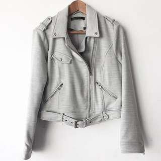 Zara gray biker jacket