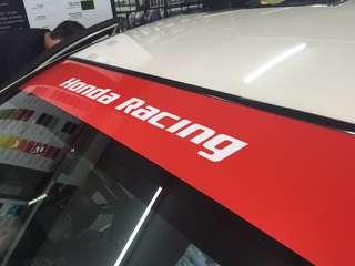 Honda racing sunshade sticker