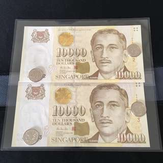 2run Portrait $10000 Note