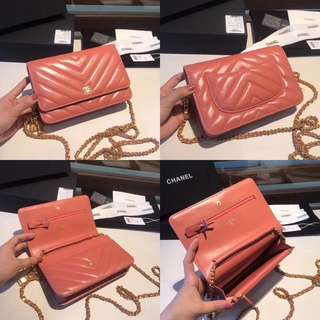 Chanel WOC in Salmon pink