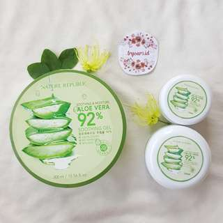 [SHARE in jar 10gr/20gr/30gr] Nature Republic Aloe Vera 92% Soothing Gel