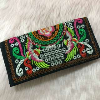 Embroidered Wallet