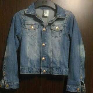 H&M Jacket Jeans 7-8y