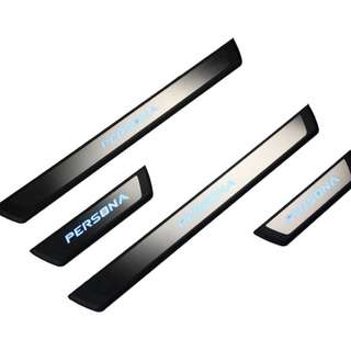PROTON PERSONA 2016 - 2017 OEM Stainless Steel Blue LED Door Side Sill Step Plate Made In Taiwan (KS1)